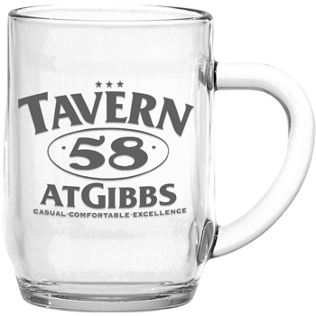 10 oz. Glass Haworth Mug