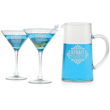 3 pc. Martini Set - Deep Etched